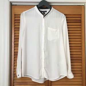 Banana Republic | Off-White Sheer Blouse